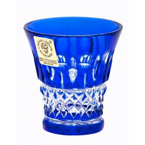 Krištáľový pohárik Tomy, farba modrá, objem 45 ml