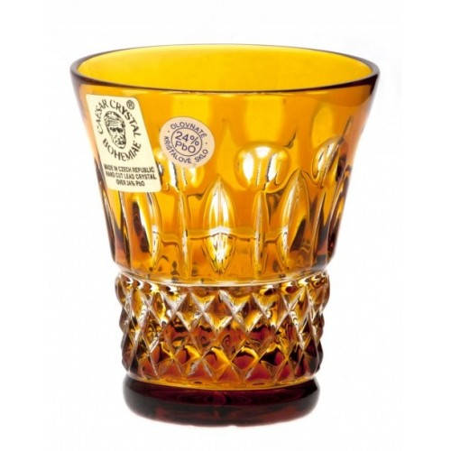 Krištáľový pohárik Tomy, farba amber, objem 45 ml