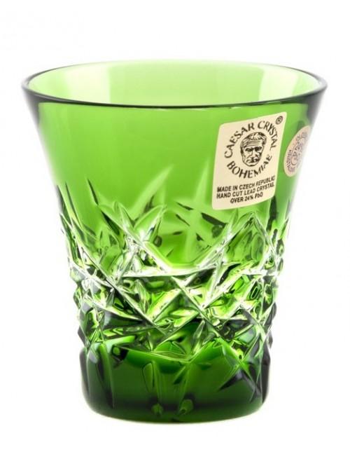 Krištáľový pohárik Hoarfrost, farba zelená, objem 45 ml