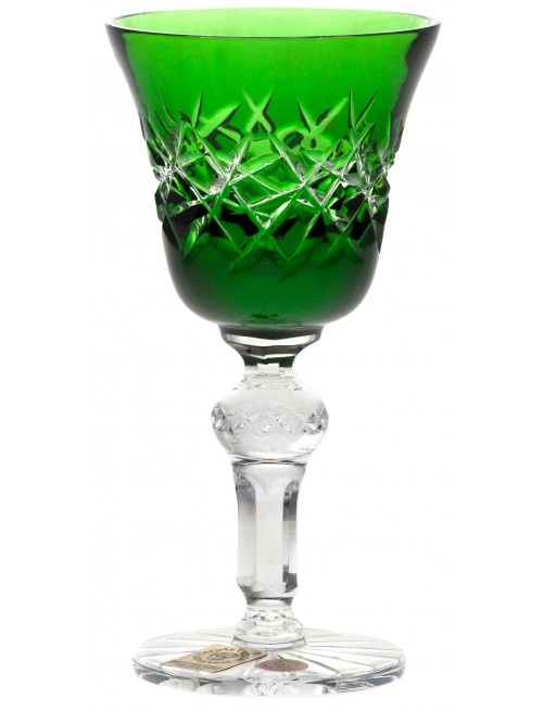 Krištáľový pohárik Hoarfrost, farba zelená, objem 50 ml