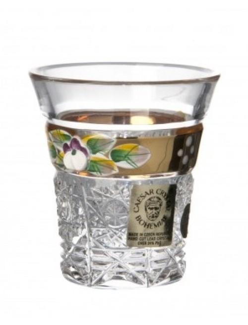 Krištáľový pohárik zlato, farba číry krištáľ, objem 45 ml