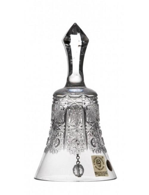 Krištáľový zvonček 500 PK, farba číry krištáľ, výška 126 mm