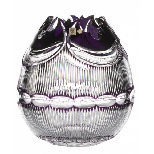 Krištáľová váza Diadem, farba fialová, výška 280 mm