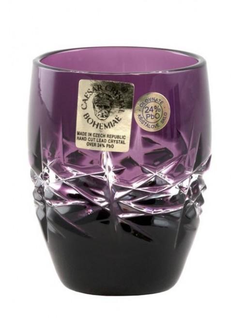 Krištáľový pohárik Hoarfrost, farba fialová, objem 50 ml