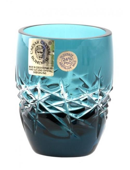 Krištáľový pohárik Hoarfrost, farba azúrová, objem 50 ml