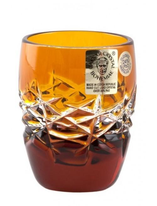 Krištáľový pohárik Hoarfrost, farba amber, objem 50 ml