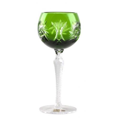 Krištáľový pohár na víno Pinwheel, farba zelená, objem 190 ml