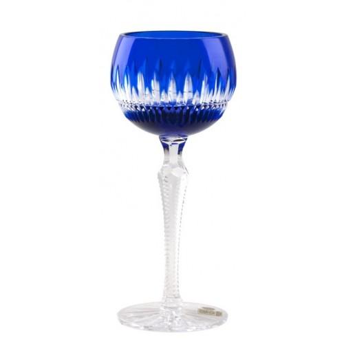 Krištáľový pohár na víno Thorn, farba modrá, objem 190 ml