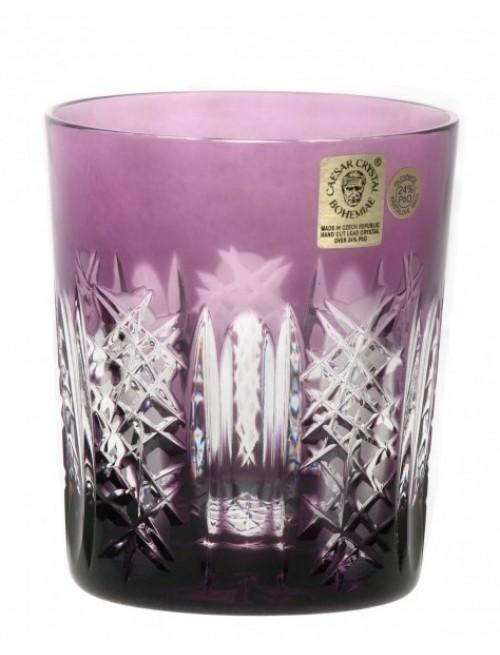 Krištáľový pohár Frigus, farba fialová, objem 290 ml