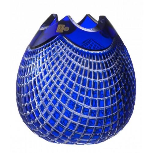 Krištáľová váza Quadrus, farba modrá, výška 250 mm