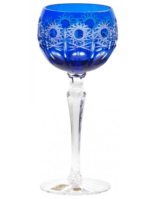 Krištáľový pohár na víno Petra, farba modrá, objem 190 ml