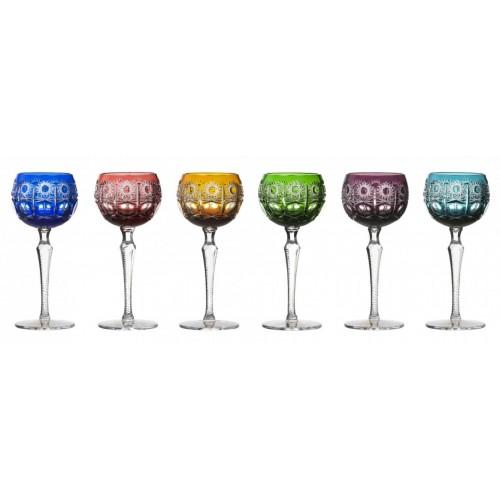 Krištáľový set pohár na víno Petra 190, farba mix farieb, objem 190 ml