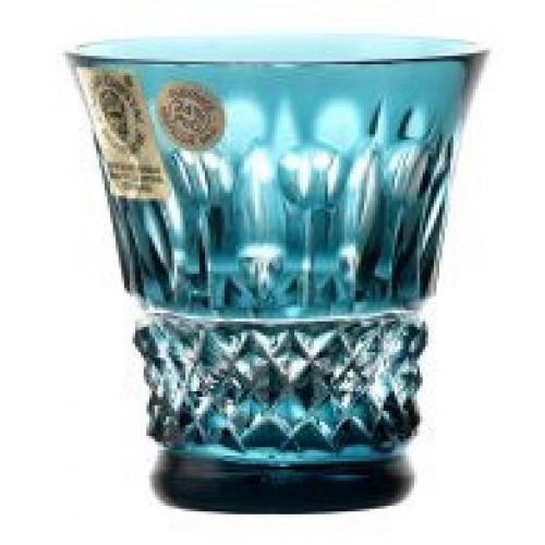 Krištáľový pohárik Tomy, farba azúrová, objem 45 ml