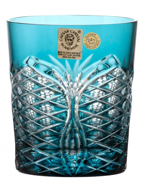Krištáľový pohár Ankara, farba azúrová, objem 290 ml
