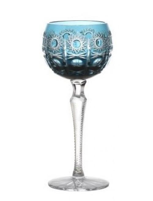 Krištáľový pohár na víno Petra, farba azúrová, objem 190 ml