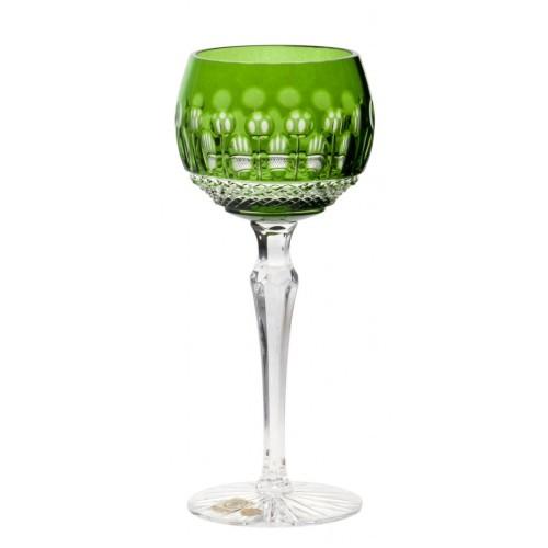 Krištáľový pohár na víno Tomy, farba zelená, objem 190 ml