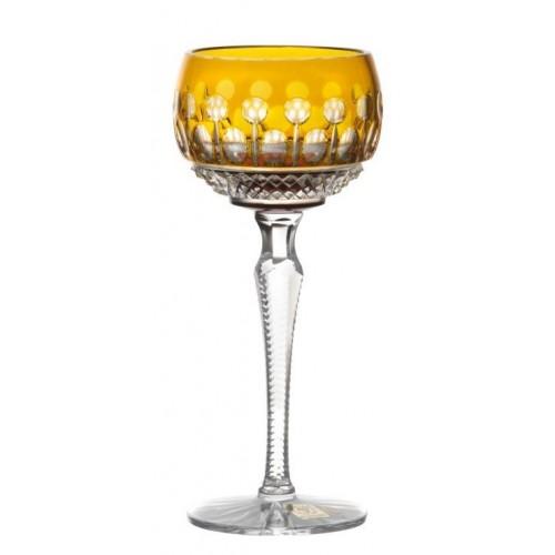 Krištáľový pohár na víno Tomy, farba jantárová, objem 190 ml