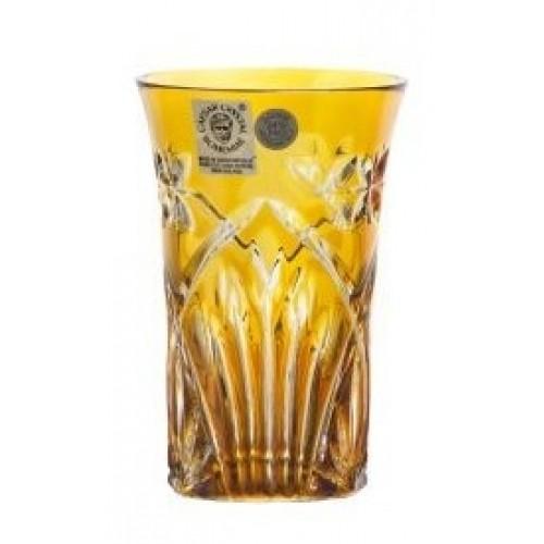 Krištáľový pohár Peacock, farba amber, objem 120 ml