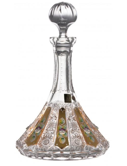 Krištáľová fľaša 500K Zlato, farba číry krištáľ, objem 1050 ml