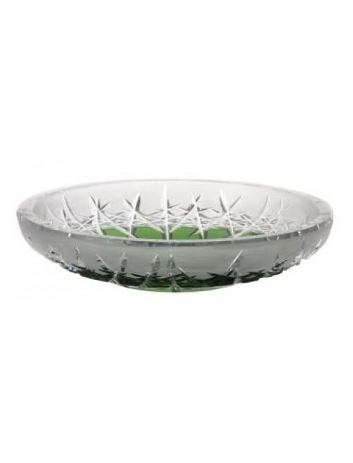 Krištáľový tanier Hoarfrost, farba zelená, priemer 180 mm