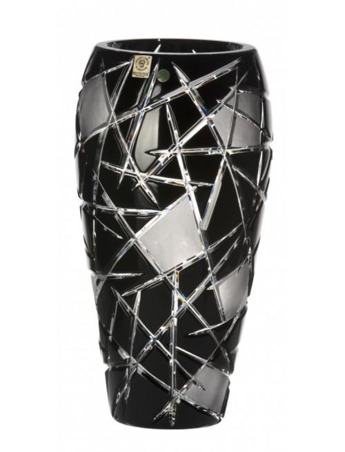 Krištáľová váza Mars, farba čierna, výška 310 mm