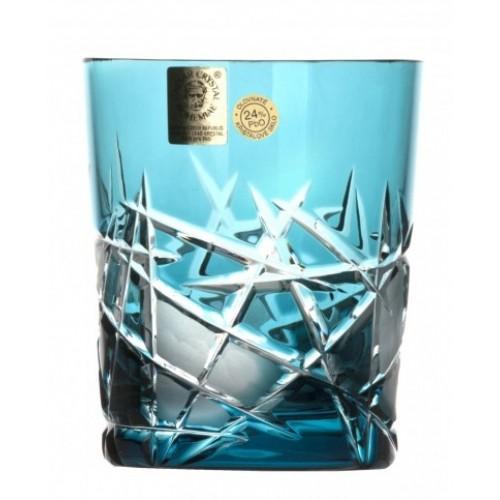 Krištáľový pohár Mars, farba azúrová, objem 290 ml