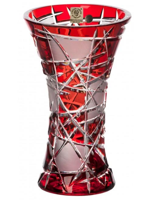 Krištáľová váza Mars, farba rubínová, výška 205 mm