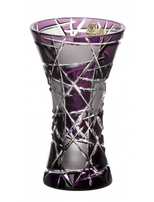 Krištáľová váza Mars, farba fialová, výška 205 mm
