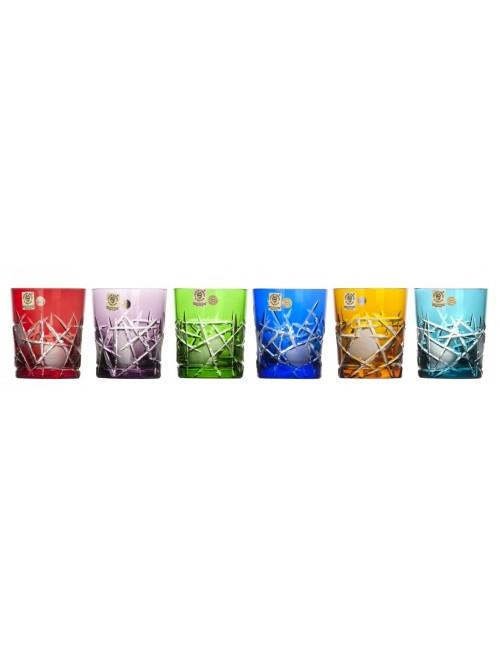 Krištáľový set pohár Mars whisky, farba mix farieb, objem 290 ml