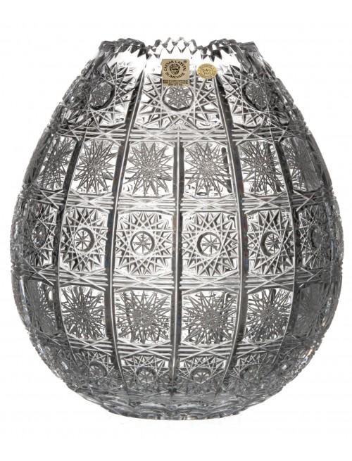 Krištáľová váza 500PK, farba číry krištáľ, výška 210 mm