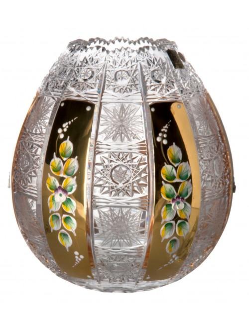 Krištáľová váza 500K Zlato, farba číry krištáľ, výška 210 mm