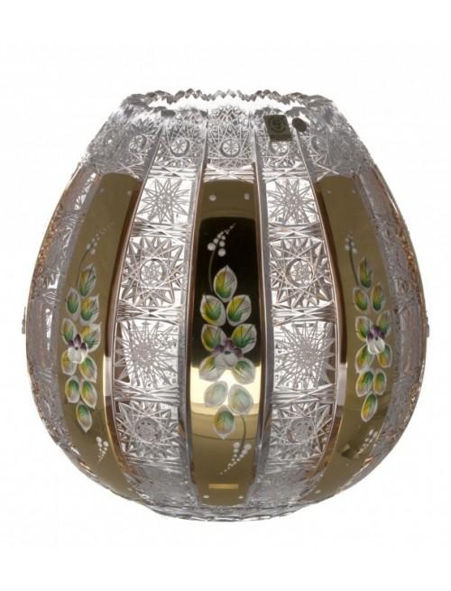 Krištáľová váza smalt, farba číry krištáľ, výška 250 mm