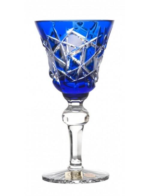 Krištáľový pohárik Mars, farba modrá, objem 50 ml