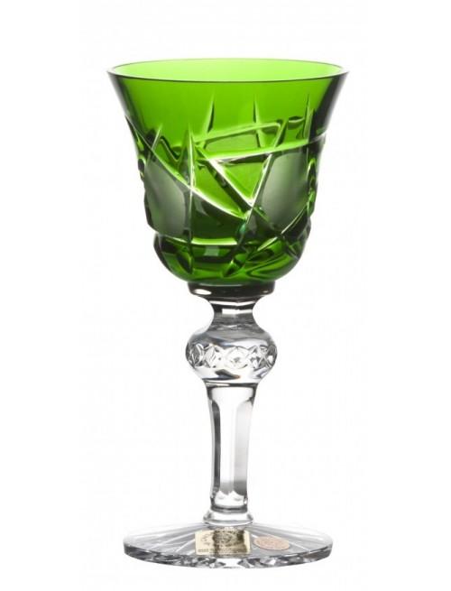 Krištáľový pohárik Mars, farba zelená, objem 50 ml