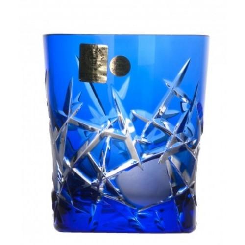 Krištáľový pohár Mars, farba modrá, objem 290 ml