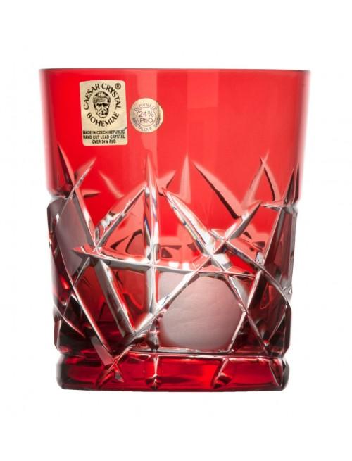 Krištáľový pohár Mars, farba rubínová, objem 290 ml
