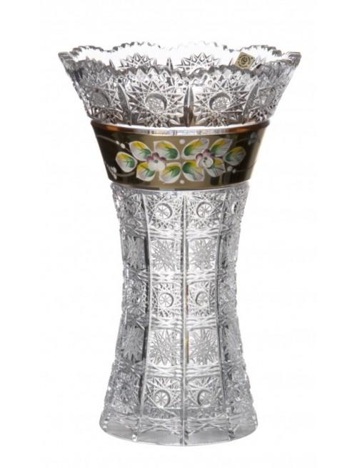 Krištáľová váza Smalt II, farba číry krištáľ, výška 255 mm