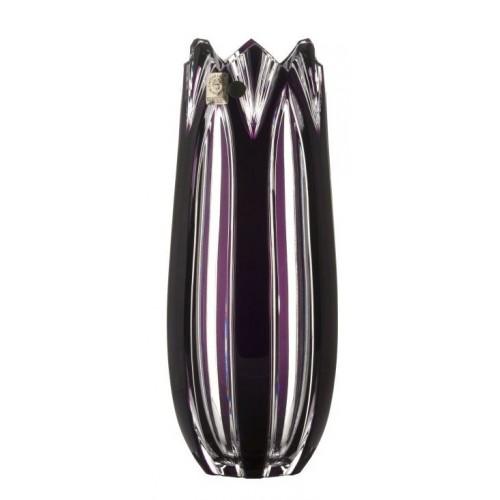 Krištáľová váza Lotos, farba fialová, výška 250 mm