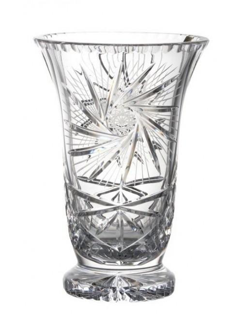 Krištáľová váza Pinwheel, farba číry krištáľ, výška 255 mm