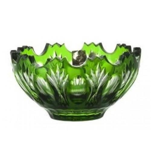 Krištáľová miska Dandelion, farba zelená, priemer 130 mm
