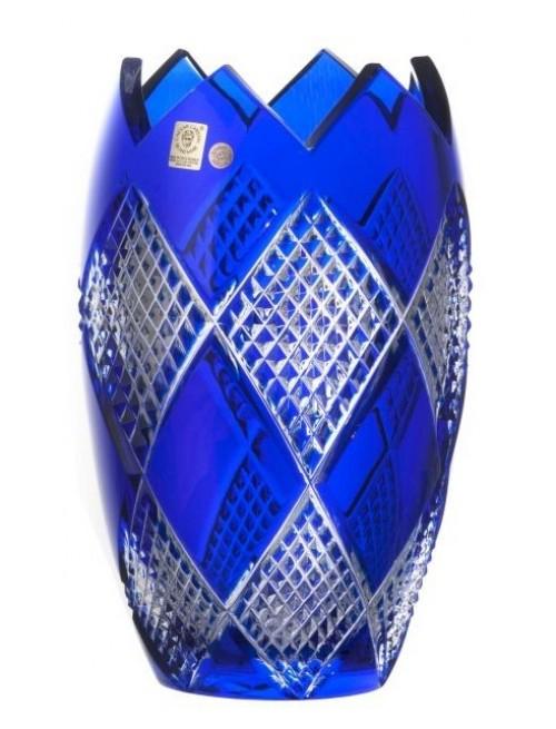 Krištáľová váza Colombine I, farba modrá, výška 255 mm