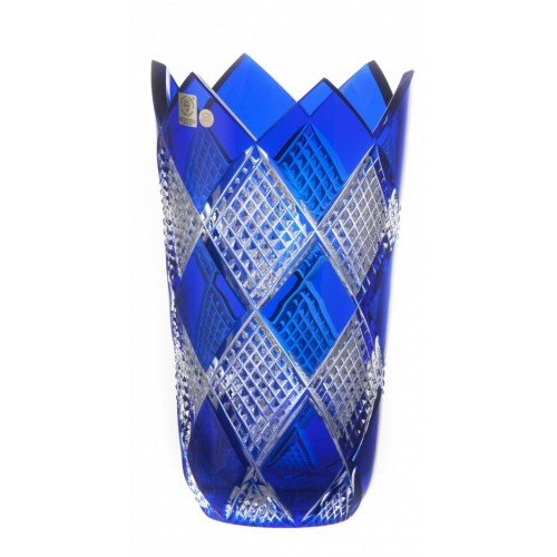 Krištáľová váza Colombine II, farba modrá, výška 255 mm