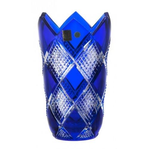 Krištáľová váza Colombine, farba modrá, výška 205 mm