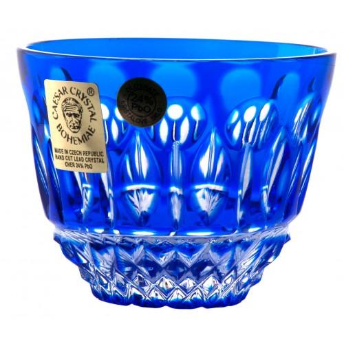Krištáľový pohárik Tomy, farba modrá, objem 65 ml