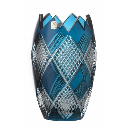 Krištáľová váza Colombine I, farba azúrová, výška 255 mm
