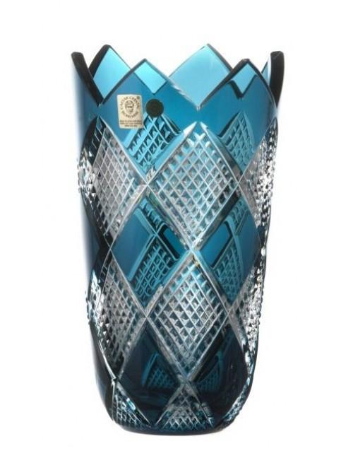 Krištáľová váza Colombine II, farba azúrová, výška 205 mm