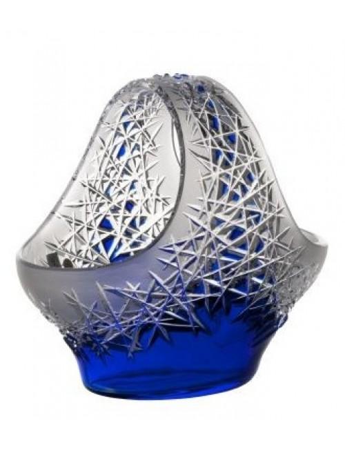 Krištáľový kôš Hoarfrost, farba modrá, priemer 255 mm
