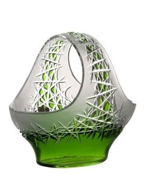 Krištáľový kôš Hoarfrost, farba zelená, priemer 255 mm