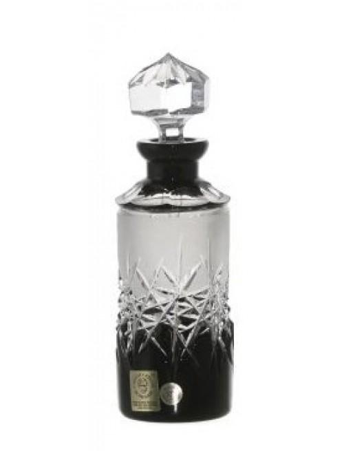 Krištáľový flakón + maz. Hoarfrost, farba čierna, objem 90 ml