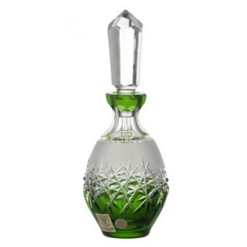 Krištáľový flakón Hoarfrost, farba zelená, objem 130 ml